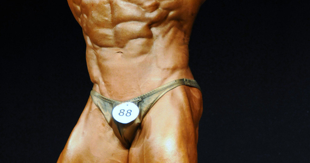 Bodybuilder midsection