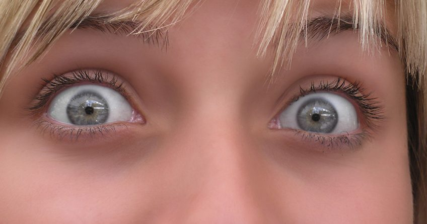 Eyes up close