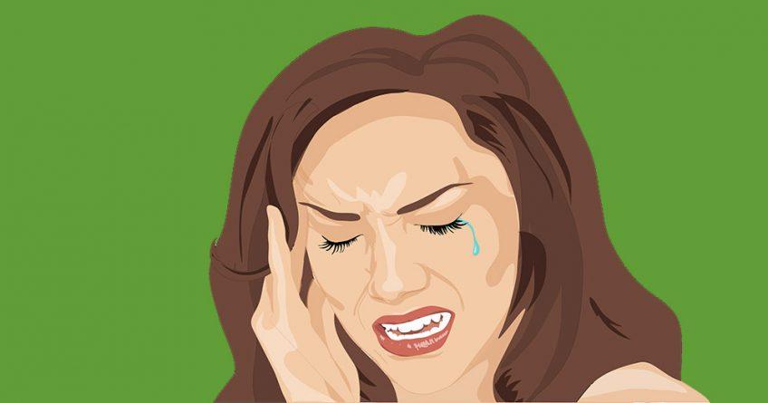 Woman having a severe headache